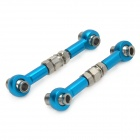 HSP 122017 Aluminum Alloy Steering Link for 1:10 Scale R/C Cars - Blue (2 PCS)