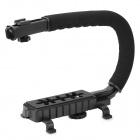 Commlite CS-VX C-shaped Handheld Holder / Handle for DSLR / Camcorders - Black