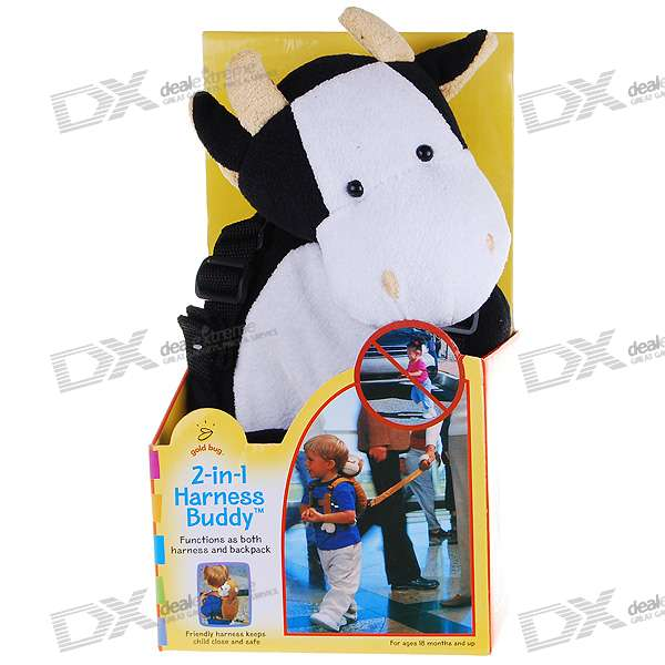 Cute Milk Cow Doll Harness Buddy