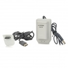 3.7V 4800mAh Rechargeable NiMH Battery + Battery Charger for XBOX360 Wireless Controller - White