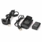 3.7V 4800mAh Rechargeable NiMH Battery + Battery Charger for XBOX360 Remote Controller - Black