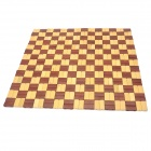 Color Matching Square Shaped Car Seat Bamboo Mat Cushion - Yellow + Brown