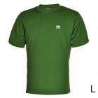 Naturehike-NH Quick Drying Round Collar Polyester T-shirt for Men - Army Green (Size L)