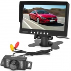 "Car 7"" LCD Rearview Monitor + E350 CMOS Camera w/ 7-LED Night Vision - Black"