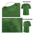 Naturehike-NH Quick Drying Round Neck Polyester T-shirt for Men - Army Green (Size XL)