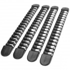 Decoration Protective Guard Rubber Bar for Car Front and Rear Bumper - Black + Silver (4PCS)