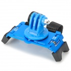 Aluminum Alloy + ABS Bicycle Holder + Tripod Mount Adapterfor Gopro 2 / 3 / 3+ - Black + BLue