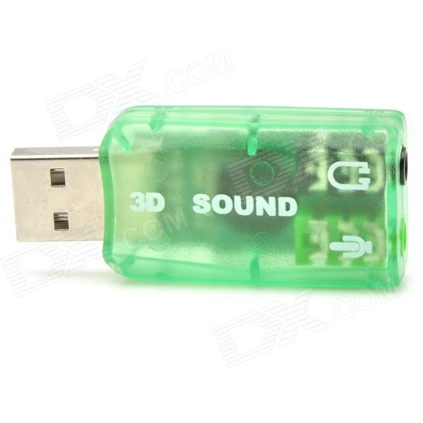 HY554 Virtual 5.1-Surround USB 2.0 External Sound Card