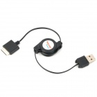 Retractable USB 2.0 Data / Charging Cable for PSP GO - Black (70CM)