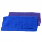 Superfine Fiber Towel - Purple + Blue (2 PCS / 30 x 30cm)