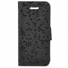 Fashion Fish-Scale Pattern PU Leather Flip-Open Case for Iphone 5 - Black