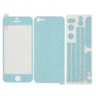 Decorative Frosted Shining Fluorescence Full Body Stickers Set for iPhone 5 - Light Blue