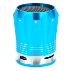 Portable Mini Rechargeable Media Player Speaker w/ TF / FM - Blue + Silver