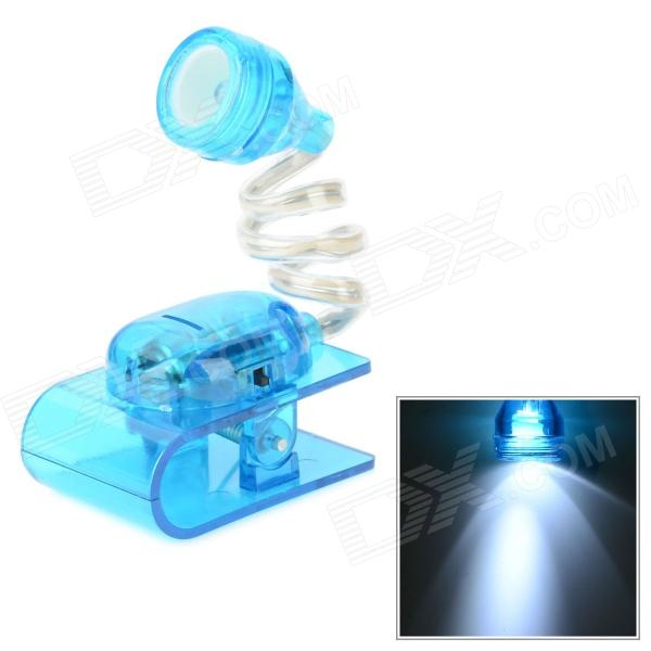 Creative White LED Mini Clip Desk Lamp - Blue