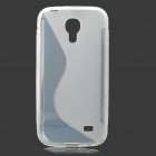 """S"" Style Protective TPU Back Case for Samsung Galaxy S4 Mini i9190 - Translucent White"
