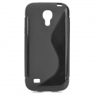 """S"" Style Protective TPU Back Case for Samsung Galaxy S4 Mini i9190 - Black"
