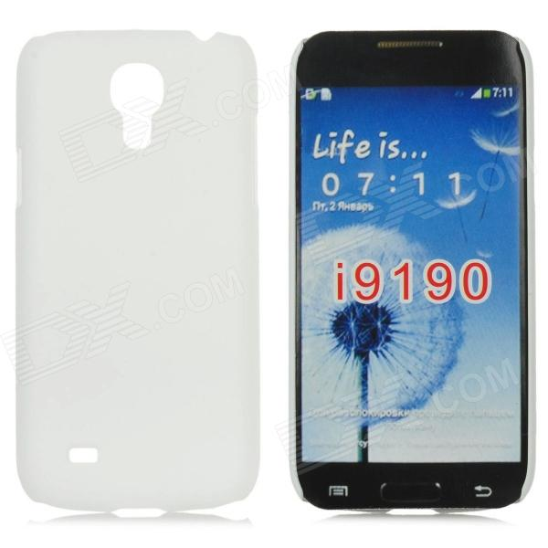 Protective Frosted Plastic Back Case for Samsung Galaxy S4 Mini i9190 - White mesh protective abs back case for samsung galaxy mini s5570 white