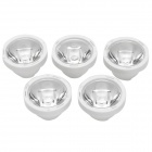 22mm 30 Degree PMMA Condensing Lens for 1/3/5W CREE LED - White + Transparent (5 PCS)