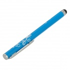 Flower Design Ballpoint Pen Style Capacitive Screen Stylus Pen w/ Clip for Iphone / Ipad - Blue