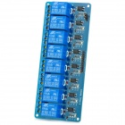 8-Channel Relay Module Board w/ Optocoupler Isolation -Blue (Works with Official Arduino Boards)