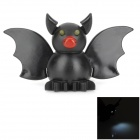 Desenhos animados Bat Estilo White LED Keychain w / Sound Effect - Preto (3 x AG13)