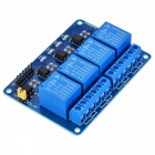 4-Channel Relay Module Board w/ Optocoupler Isolation -Blue