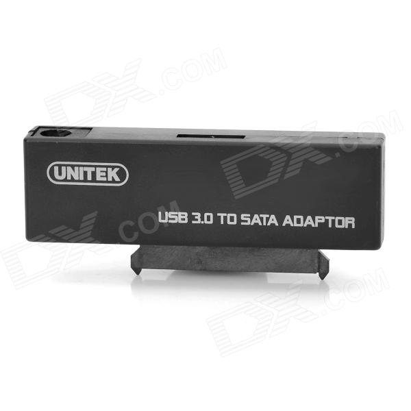 UNITEK Y-1039 12V 2A USB 3.0 to SATA Hard Disk Drive Converter - Black (3TB Max.) sata usb 3 0 blue orange hdd case with 250g hard disk heating release rubber case 2 5 fast reading speed case