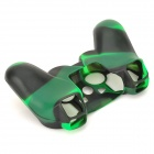 Stylish Flexible Silicone Protector for Wired / Wireless PS 2 / PS 3 Gamepad - Black + Green