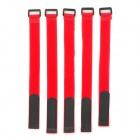 Battery Ribbon Fastener Velcro Cable Tie for RC Helicopter - Red + Black (5PCS / Length 30CM)
