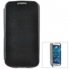 USAMS S4BL01 Protective PU Leather Flip-Open Case for Samsung Galaxy S4 - Black