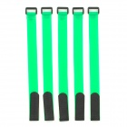 Battery Ribbon Fastener Velcro Cable Tie for RC Helicopter - Green + Black (5PCS / Length 30CM)