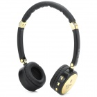 K-893 Stylish Bluetooth v2.1 Headphones Headset w/ Microphone - Black + Golden