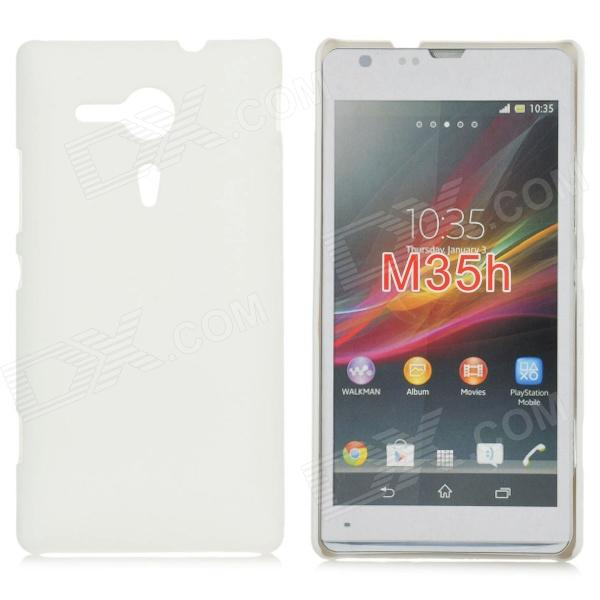 Protective Frosted Plastic Back Case for Sony Xperia SP M35h - White