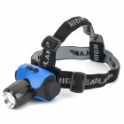 LZZ-6403 CREE XP-E Q5 3-Mode White Light Zooming Headlamp - Black + Blue (1 x 18650)