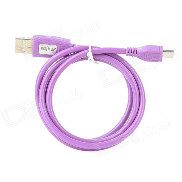 USB Male to Micro USB Male Data Charging Cable - Purple (90cm) flat micro usb male to usb 2 0 male data sync charging cable for samsung more purple 100cm