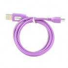 USB Male to Micro USB Male Data Charging Cable - Purple (90cm)