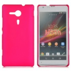 Protective Frosted Plastic Back Case for Sony Xperia SP M35h - Deep Pink