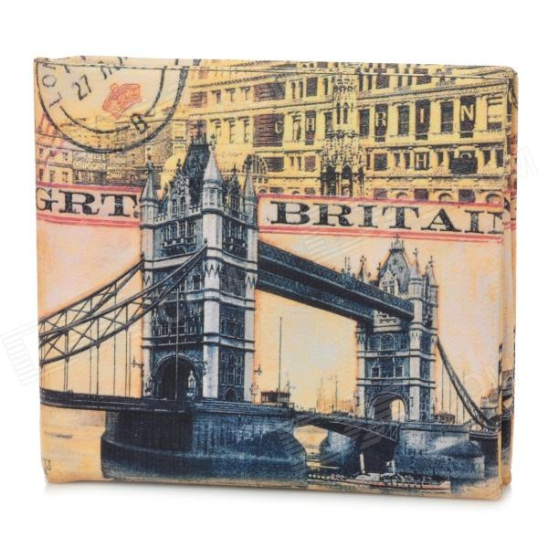 London Tower Bridge Pattern Wallet - Yellow + Black