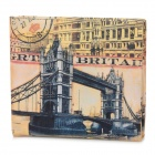 London Tower Bridge Pattern Wallet - Gelb + Schwarz