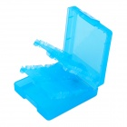 16-in-1 Memory Flash Cards Storage Case / Holder for NDSL / NDSI / NDSI LL + More - Translucent Blue