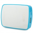 Qisan G600 External Portable 5200mAh Lithium Polymer Power Bank for Samsung / iPhone - White + Blue