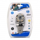 USB 2.0 2.0MP PC Camera Webcam w/ Microphone / 6-LED Night Vision Light - Silver + Yellow