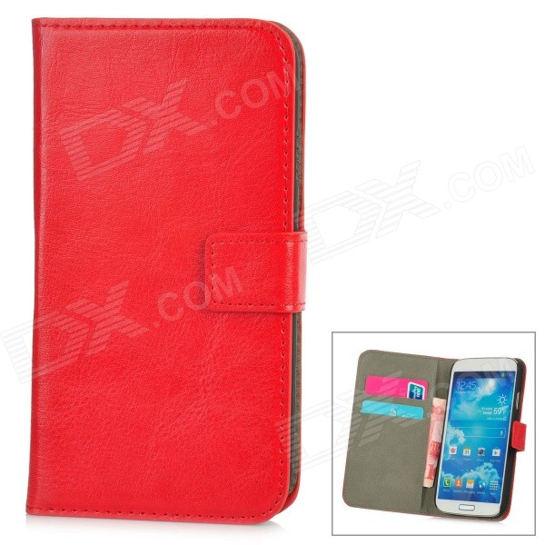 Protective PU Leather + PC Case for Samsung Galaxy S4 i9500 - Red стоимость