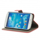 Protective PU Leather + PC Case for Samsung Galaxy S4 i9500 - Red