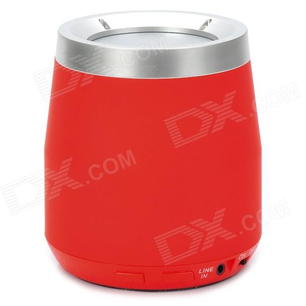 F-100 Stylish Mini Bluetooth v2.1 2-Channel Speaker w/ Microphone / FM / TF - Red + Silver вилли мун willy moon here s willy moon