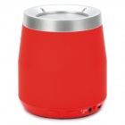 F-100 Stylish Mini Bluetooth v2.1 2-Channel Speaker w/ Microphone / FM / TF - Red + Silver