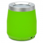 F-100 Stylish Mini Bluetooth v2.1 2-Channel Speaker w/ Microphone / FM / TF - Green + Silver
