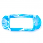 Protective Silicone Cover Case for PS Vita - Blue + White