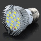 ZIYU ZY-657 E27 7.5W 675lm 6500K 15-SMD 5730 LED White Light Bulb - Silver + White (110~240V)