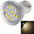 ZIYU ZY-660 E27 7.5W 675lm 3000K 15-SMD 5730 LED Warm White Light Bulb - Silver + White (85~265V)